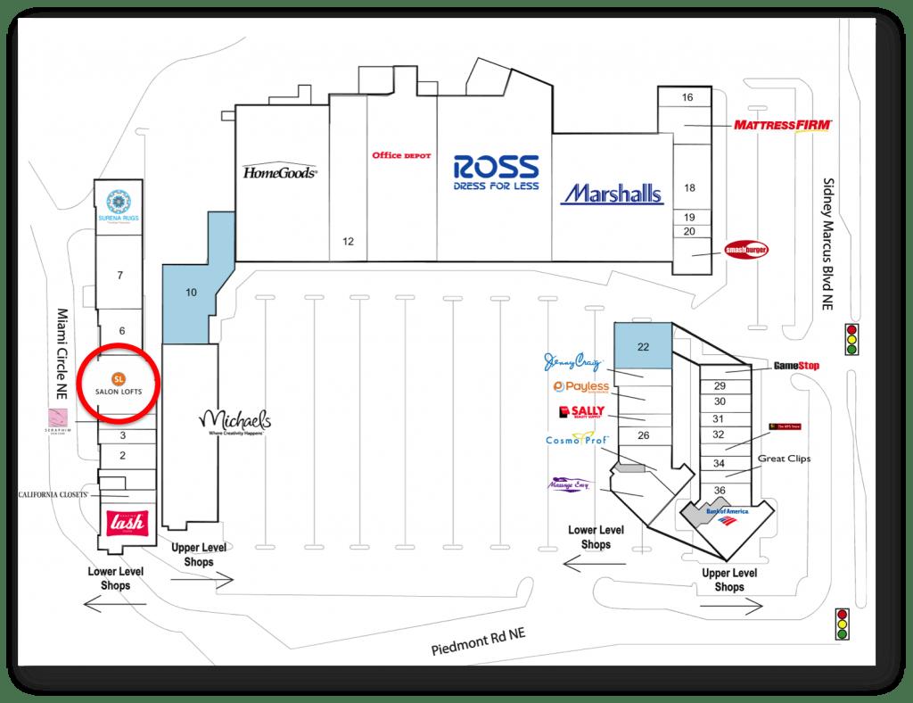 Buckhead Crossing Shopping Center | Salon Lofts | Atlanta