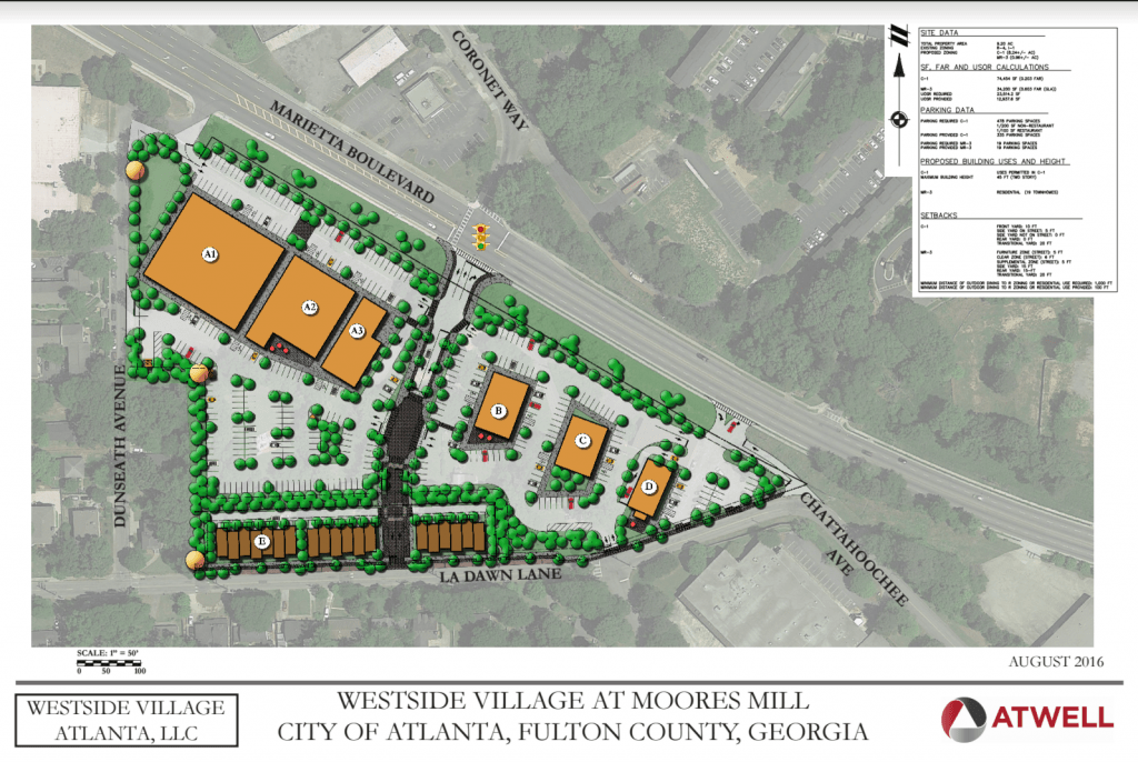 Westside Village at Moores Mill | Site Plan