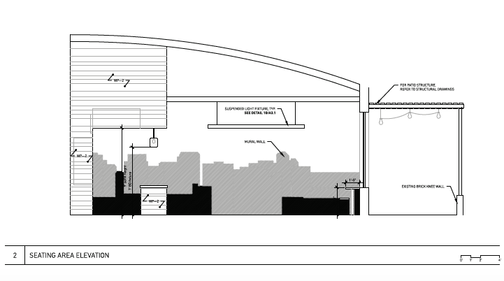 Steel City Pops - Seating Area Elevation
