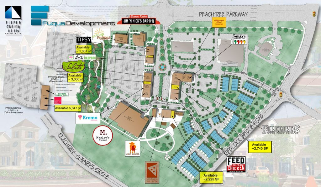Peachtree Corners Town Center - Site Plan