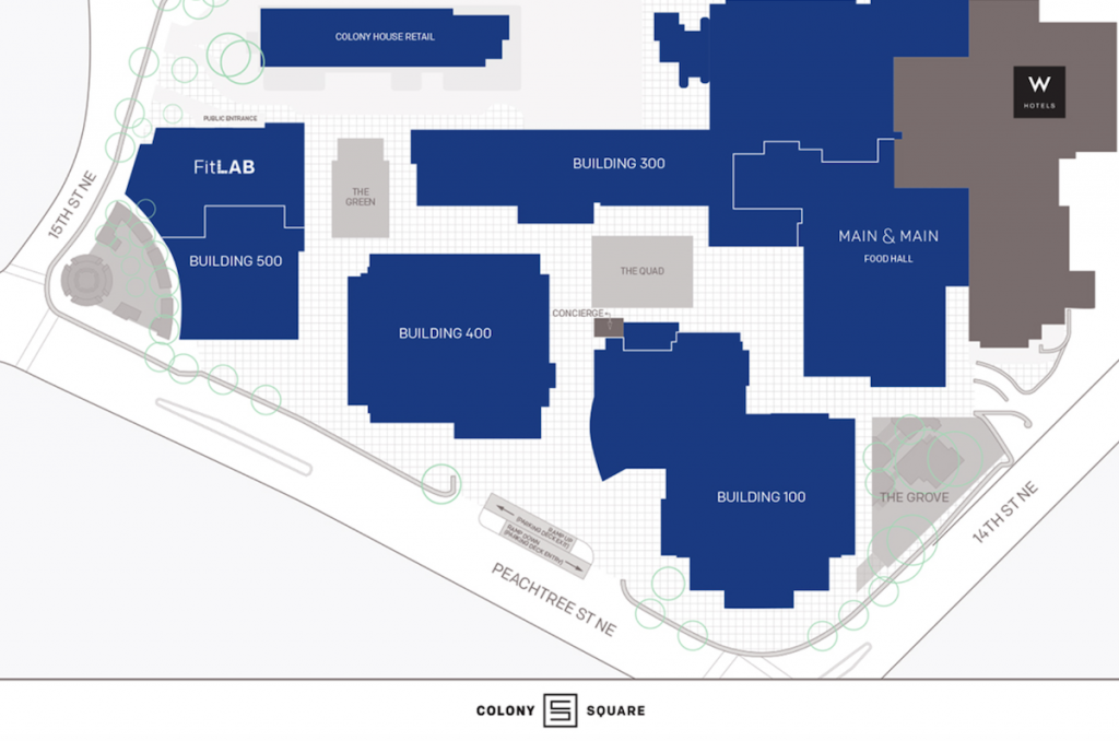 Colony Square Groundbreaking - Site Plan