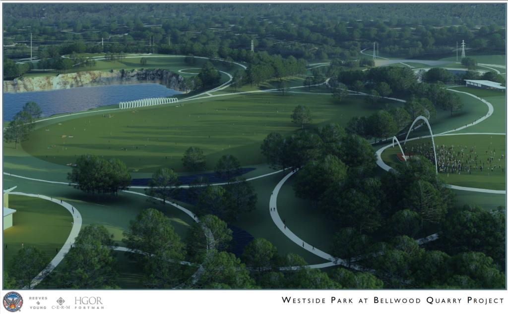 Westside Park at Bellwood Quarry - Rendering 1