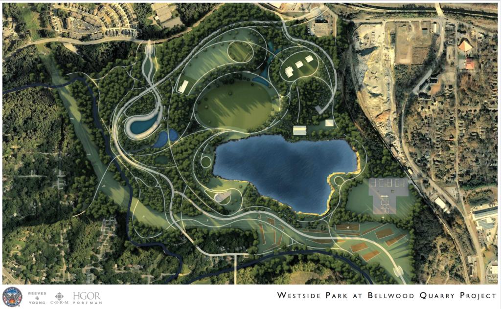 Westside Park at Bellwood Quarry - Rendering 3