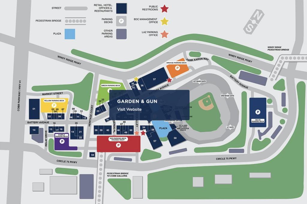 Garden Amp Gun Club The Battery Atlanta Site Plan What