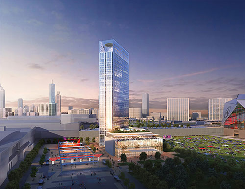 Scope The Latest Renderings For Proposed Hotel Georgia World Congress Center Hotel5