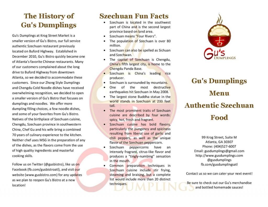 Gu's Dumplings - Page 1