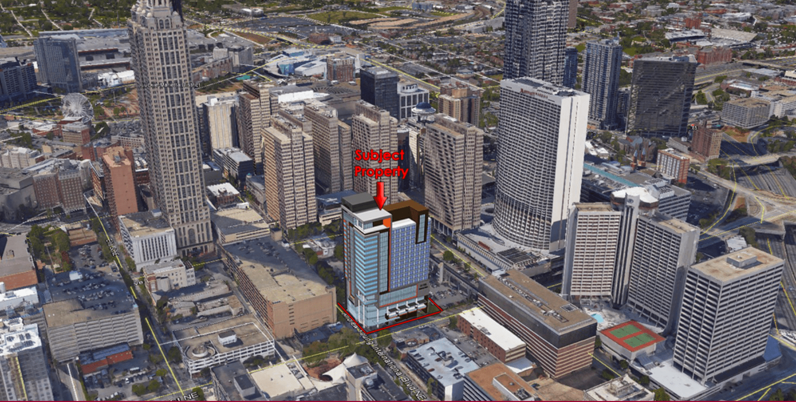 International Plaza Location Map | Downtown Atlanta - What Now Atlanta