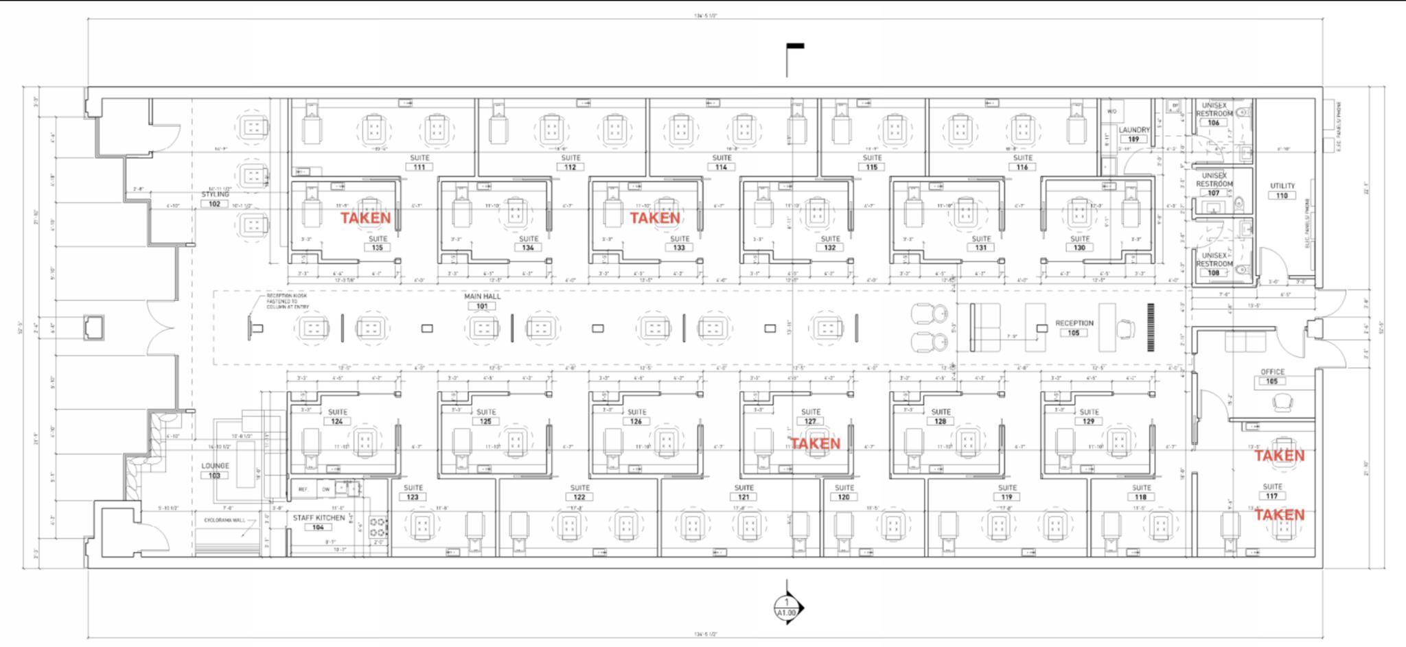 Runway Curls Salon Suites Site Plan