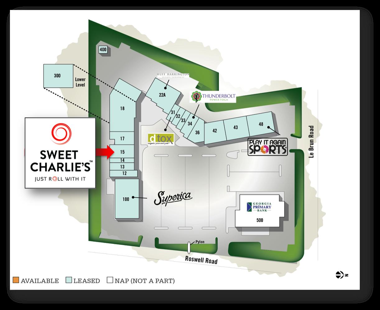 Sweet Charlie's Buckhead Court Site Plan
