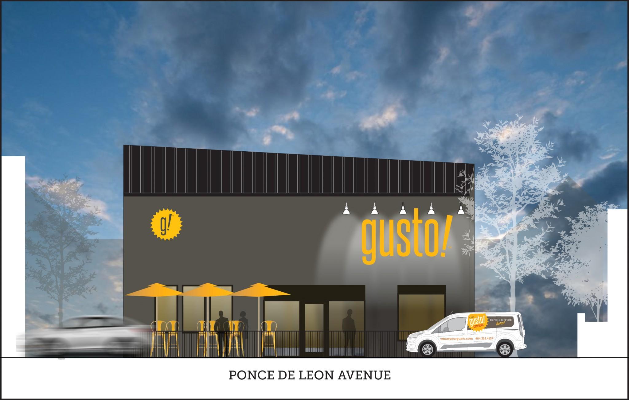 gusto!_782 Ponce de Leon Avenue rendering by Lindsay Denman