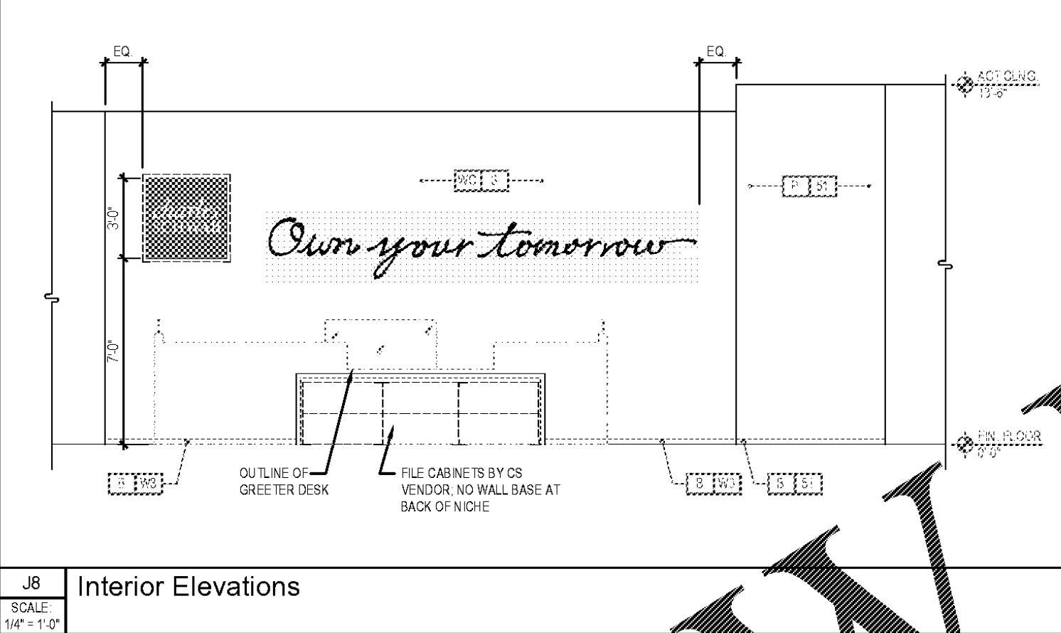Charles Schwab - Interior Elevation