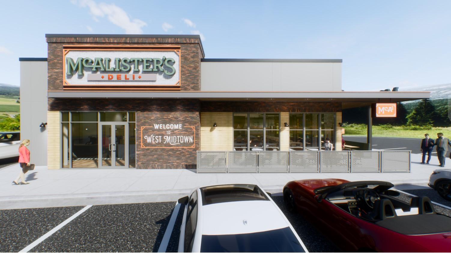 McAlister's Deli - West Midtown Center - Exterior Rendering