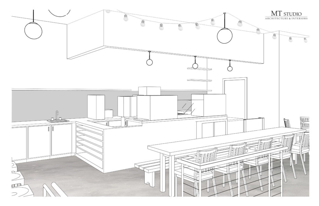 Hodgepodge Coffeehouse Rendering - Moreland Avenue