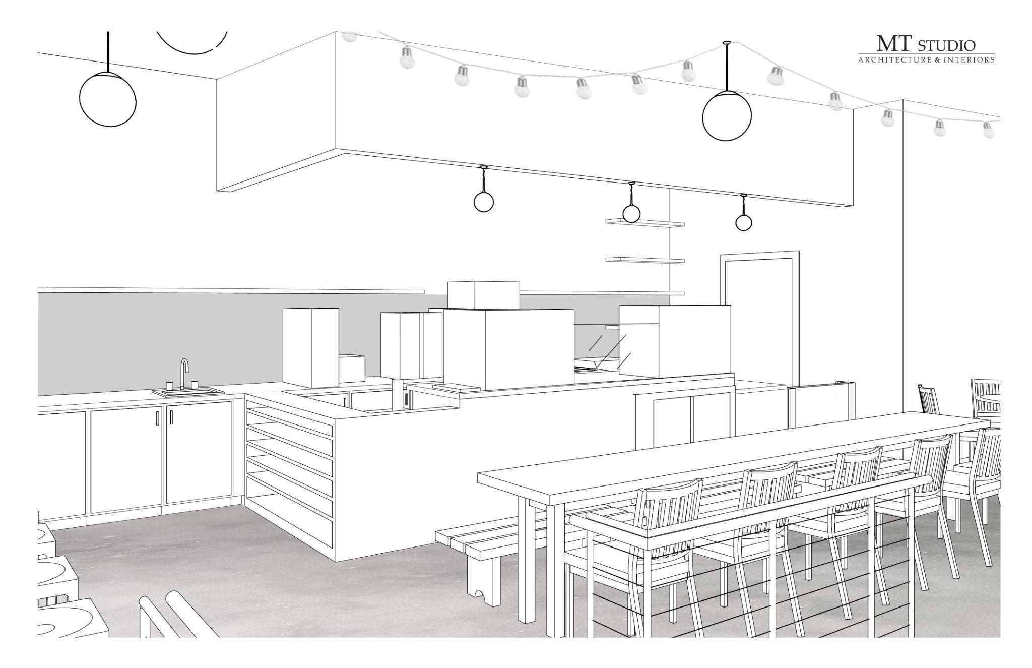 Hodgepodge Coffeehouse Rendering - Moreland Avenue