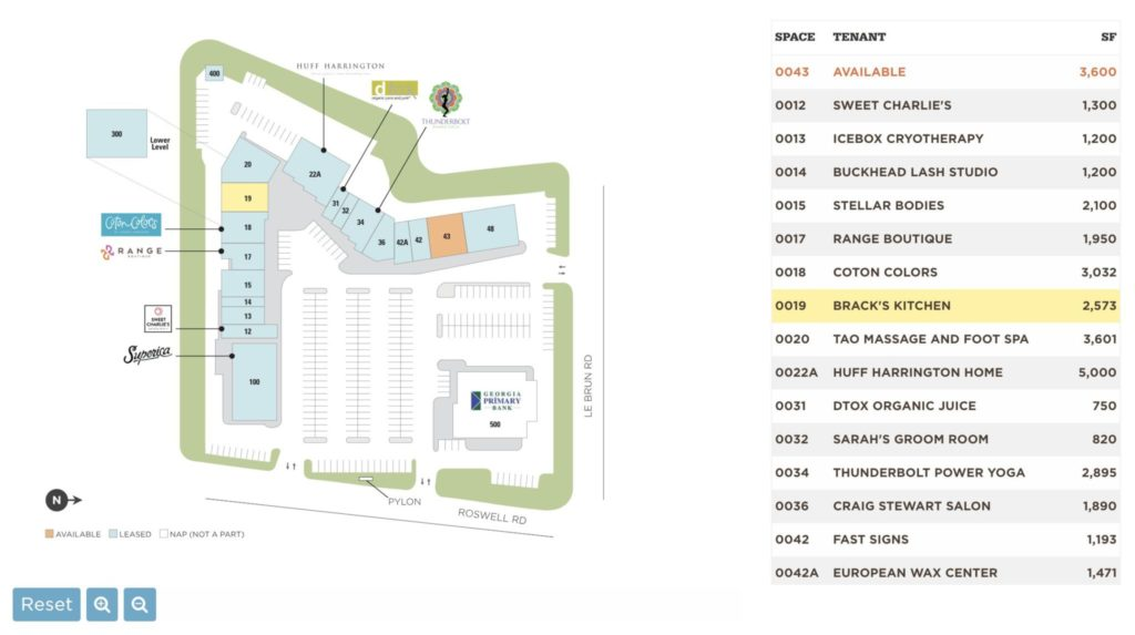 Brack's Kitchen - Buckhead Court Site Plan