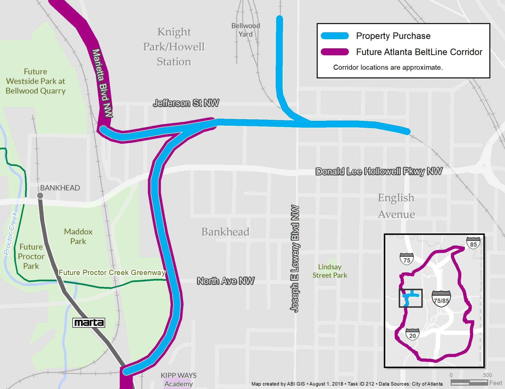 The Beltline Atlanta Map.Atlanta Beltline Acquires The Kudzu Line Final Purchase Of