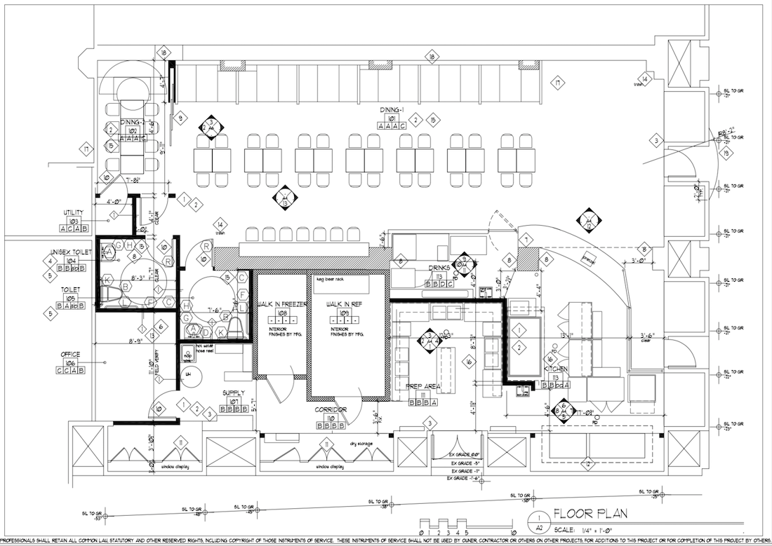Big Dave's Cheesesteaks - Healy Buidling - Downtown Floor Plan