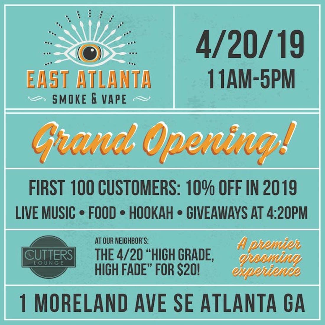 East Atlanta Smoke and Vape Reynoldstown Grand Opening