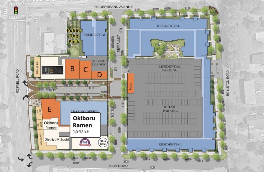 Okiboru Modera Sandy Springs - Site Plan