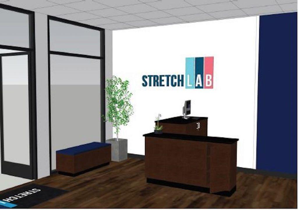 StretchLab Rendering Front Desk w Logo