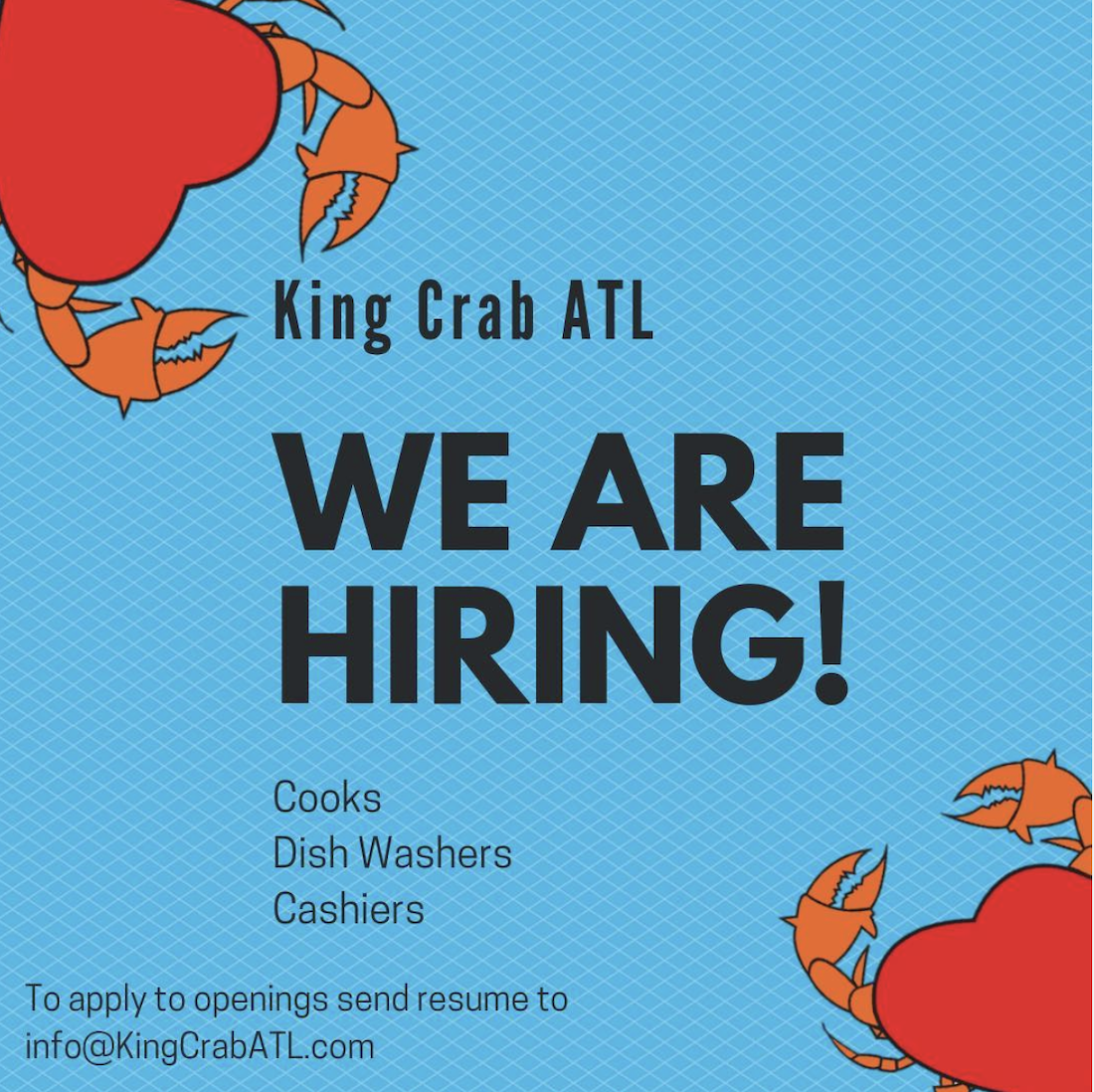 King Krab ATL Help Wanted Arium Westside