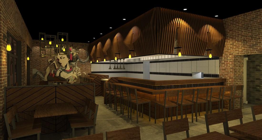 Jinya Ramen Bar - Poncey-Highland Rendering 1