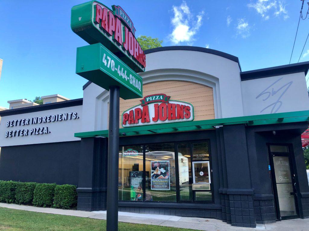 Papa John's Atlanta - Shaq Store Remodel Signature Exterior