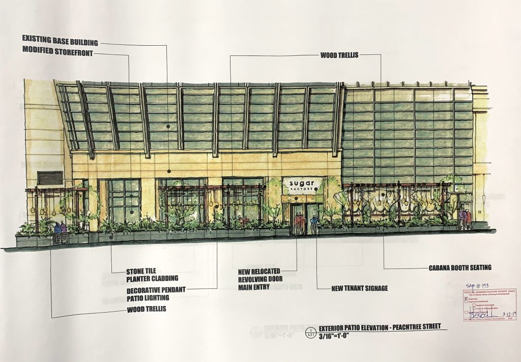 Sugar Factory Atlanta - Rendering 1